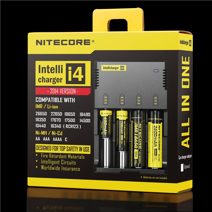 Original NiteCore i4 Charger Battery 14500/16340/18350/18650/18700 etc