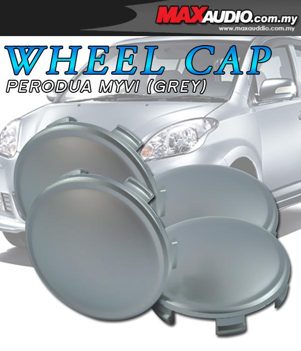 ORIGINAL PERODUA MYVI 53mm Grey Wheel Cap Cover x 4 Pcs