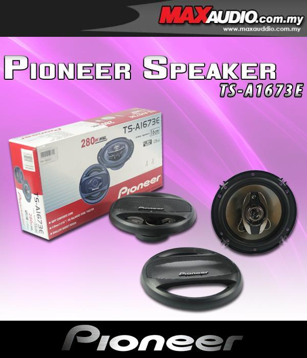 ORIGINAL PIONEER TS-1673E 6.5' 25W RMS 3-Way Coxial Speaker