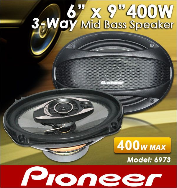 ORIGINAL PIONEER TS-A6973E 6'X9' 80W RMS 3-Way Mid Bass Speaker