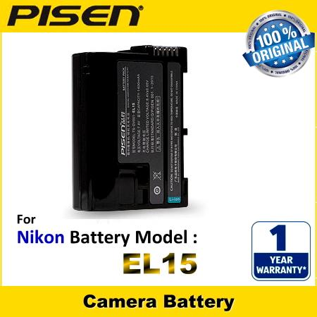 ORIGINAL PISEN Camera Battery EN-EL15 Nikon 1 V1 D610 D7000 D7100 D800