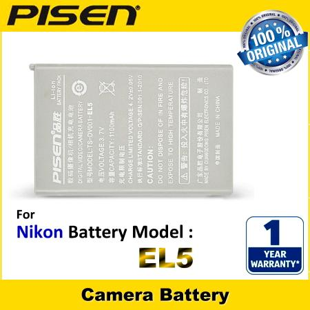 ORIGINAL PISEN Camera Battery Nikon EN-EL5 ENEL5 Battery