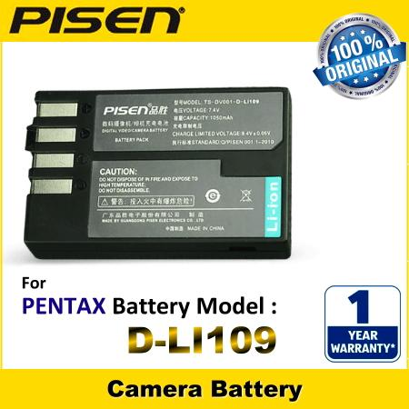 ORIGINAL PISEN Camera Battery Pentax D-LI109 DLI109 D-L1109 DL1109