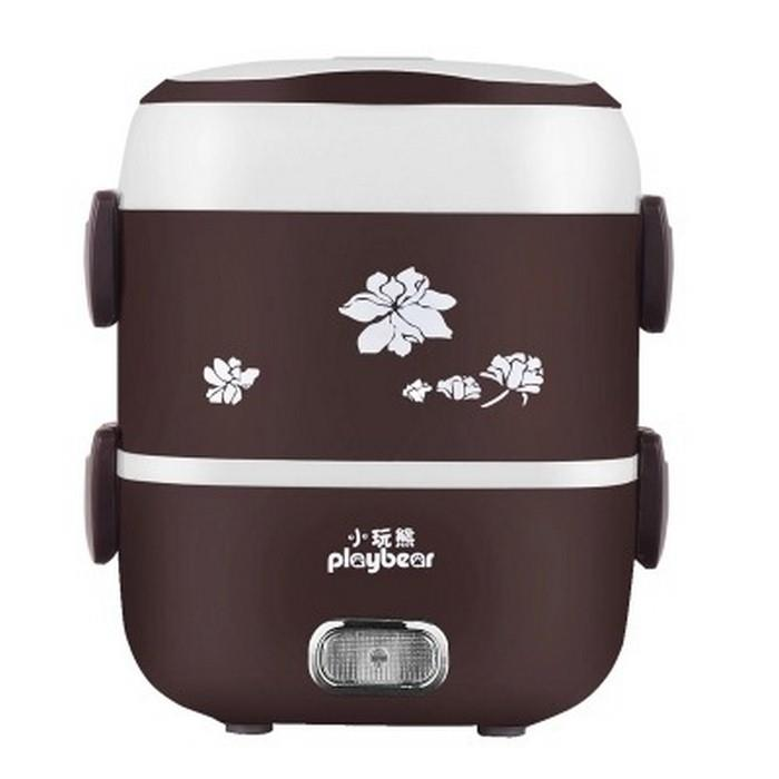 ORIGINAL Play Bear 3 Layer (1.8L) Electric Lunch box /Rice cooker