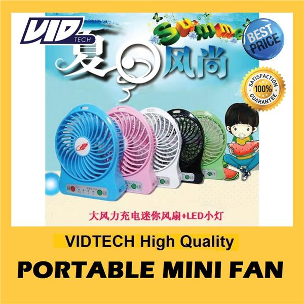 ORIGINAL Portable Mini Fan GUARANTEE STRONG Wind FREE Recharge Battery