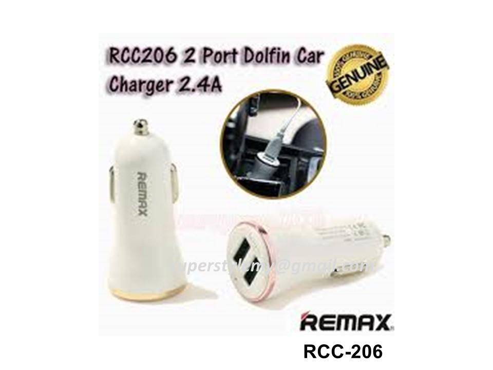 Original Remax Dolfin RCC-206 5V 2.4A Car Charger Dual USB Ports