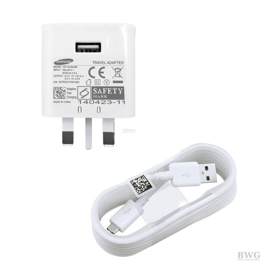 ORIGINAL Samsung 9V REAL Adaptive Fast Charger  Adapter & Cable