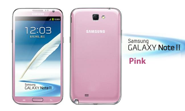 Original Samsung Galaxy Note 2 Pink 16GB n7105 LTE New Import Set