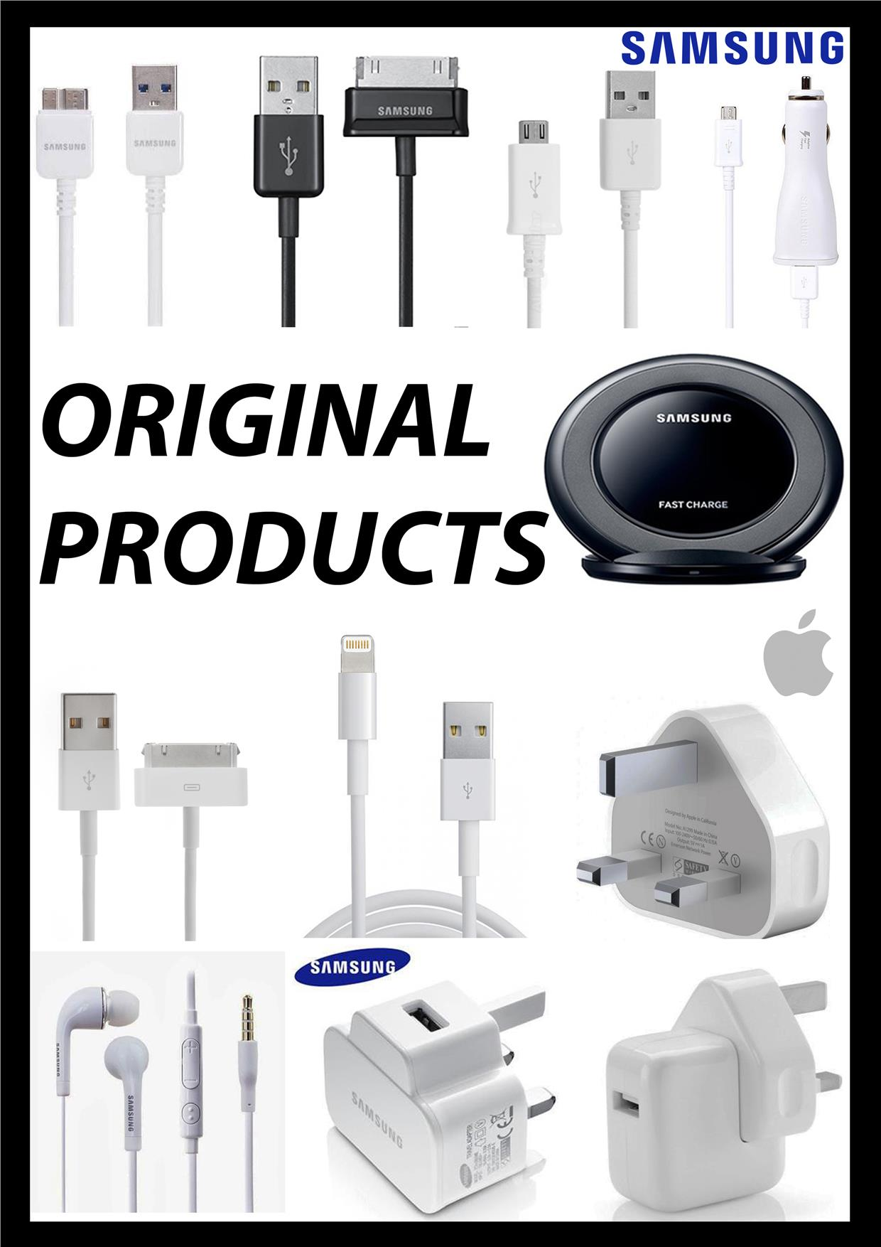 Original Samsung iPhone 4 5  6 6plus Micro USB Cable Earphone Adapter