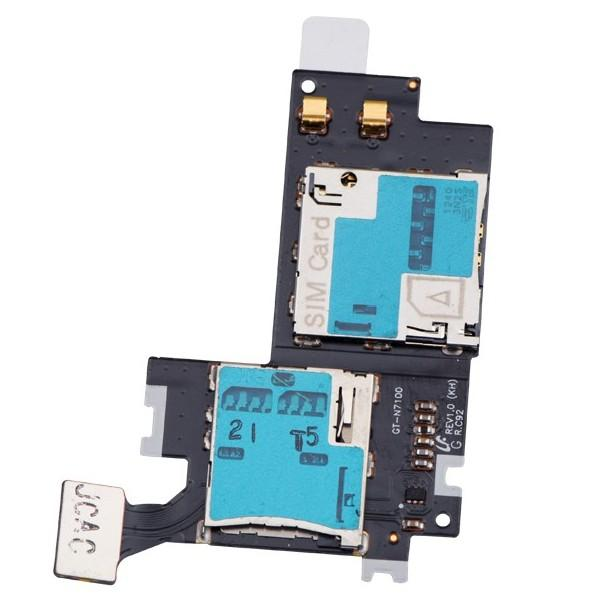 ORIGINAL SIM Memory Card Holder Flex Ribbon Samsung Note 2 II N7100