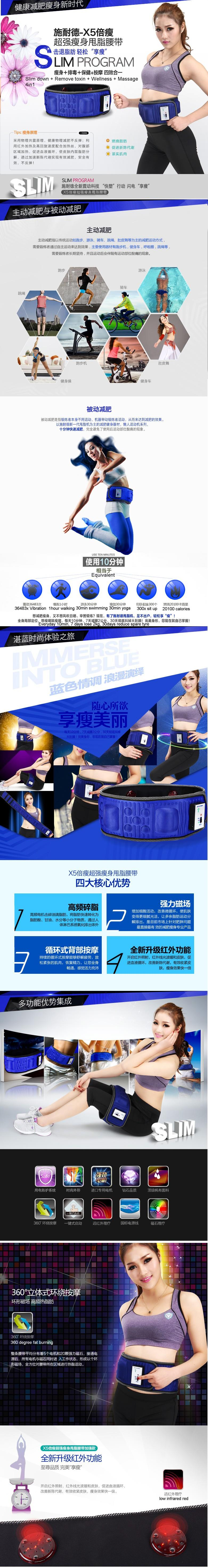 ORIGINAL Slimming Belt Waist/Thigh Sauna Massager Vibrating Fat Burner