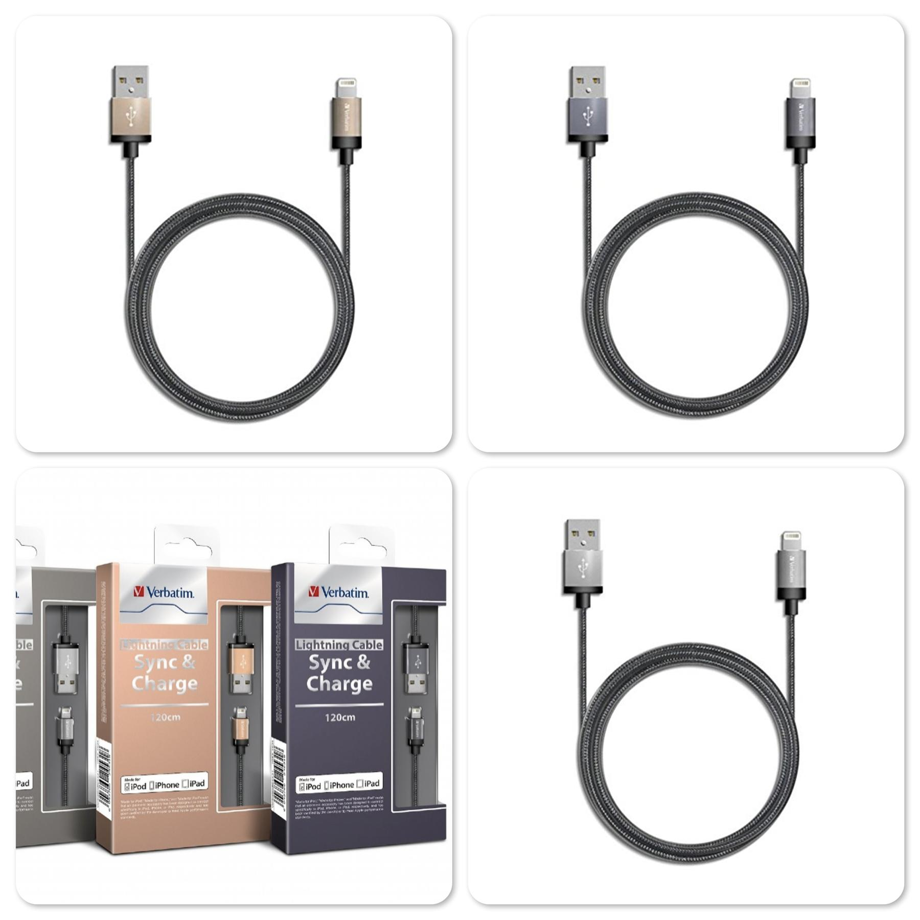 Original Verbatim 120cm Lightning Sync & Charge Cable with MFi