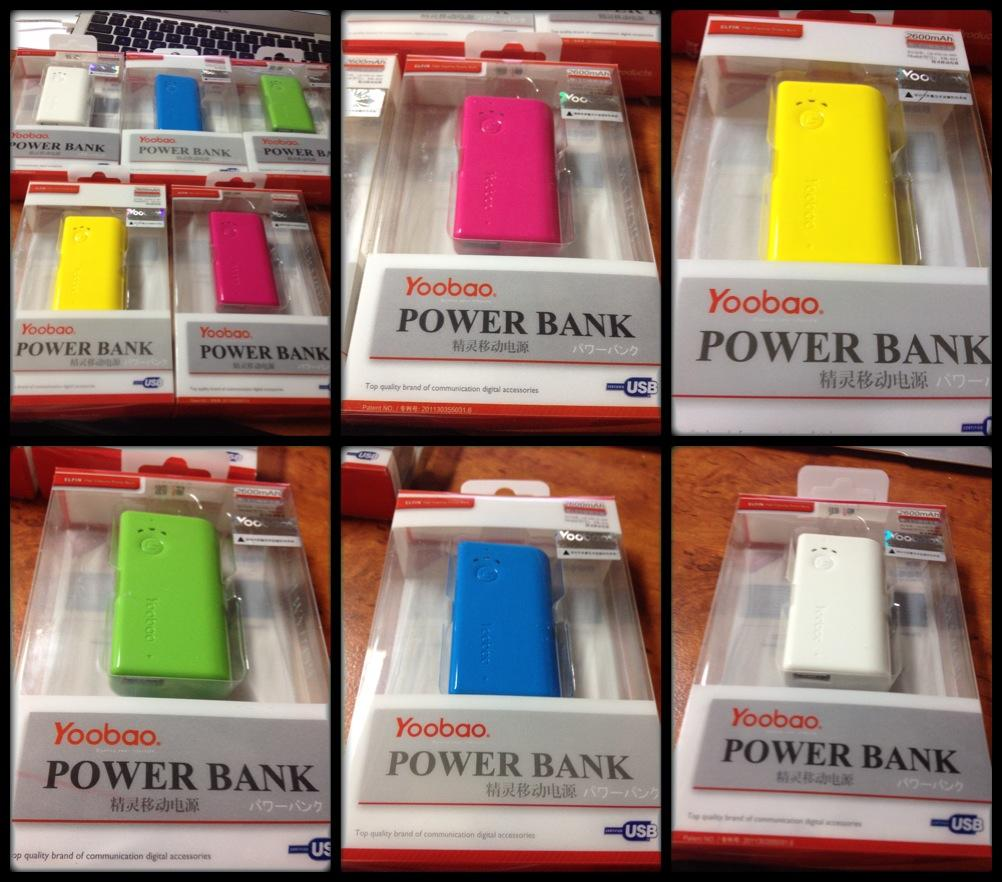 Original Yoobao Power Bank 2600MAH for Ipad,Samsung Tab & all smartpho..