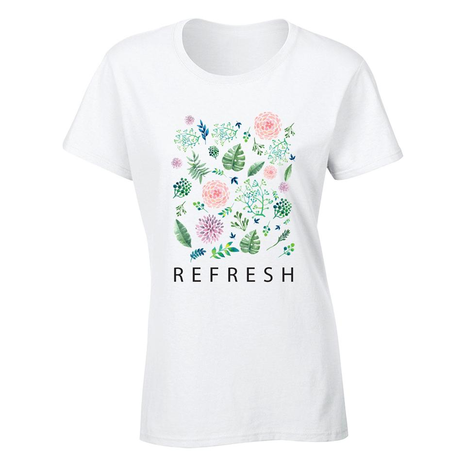 OS505F OSUMMER Flower Female T-shirt