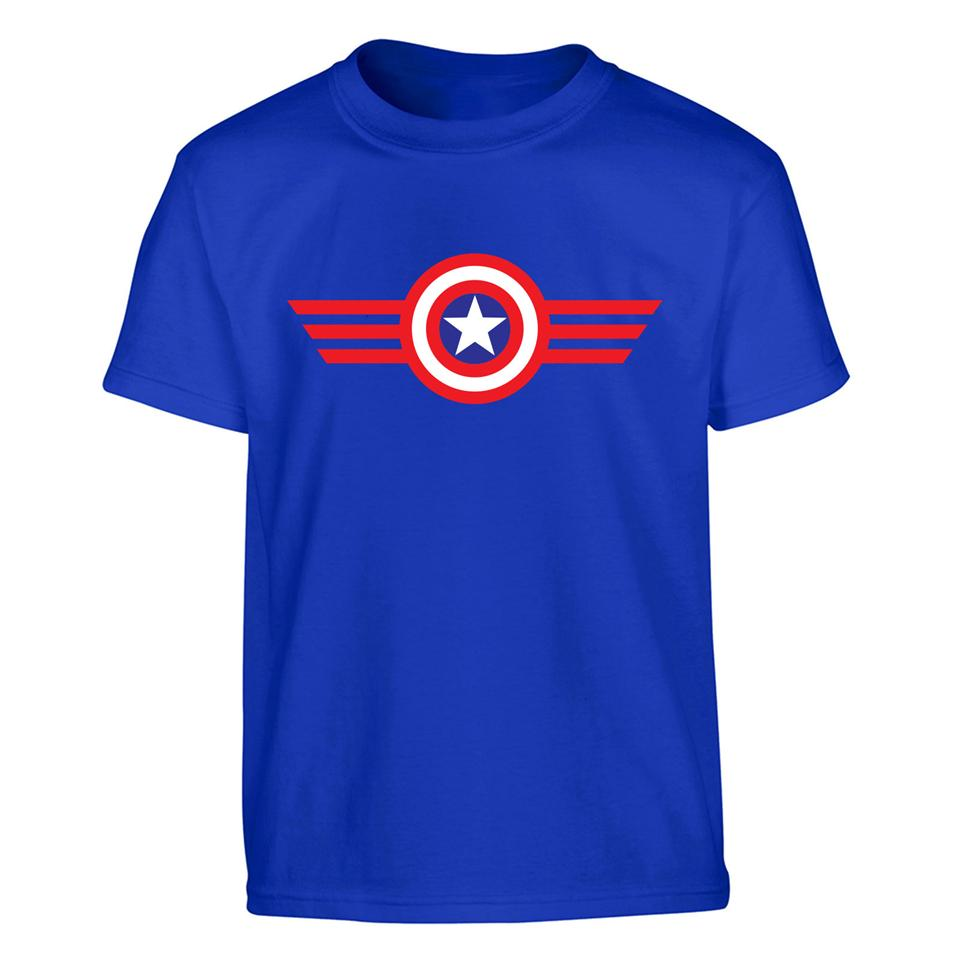OS519K Shield Hero Captain America Kids T-shirt