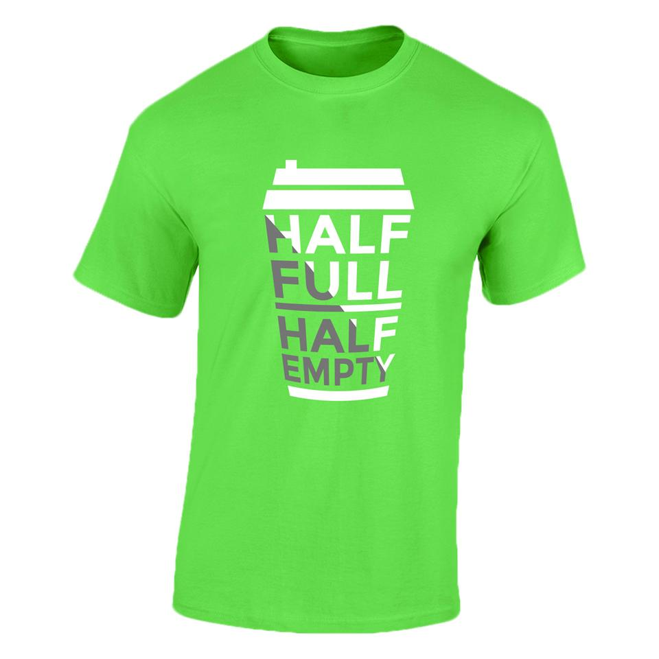 OS526M OSUMMER Half Full Half Empty Men T-shirt