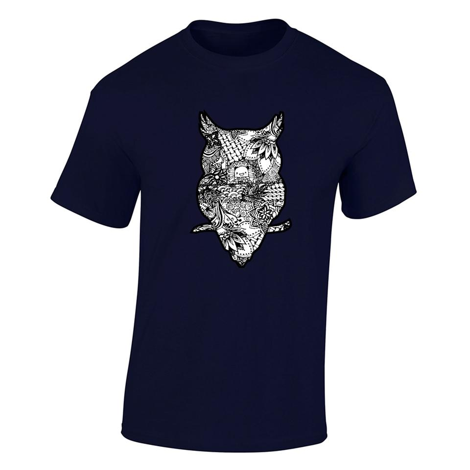 OS527M OSUMMER Owl Men T-shirt