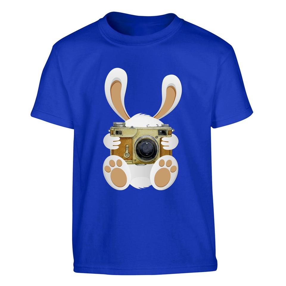 OS531K OSUMMER Rabbit Camera Kids T-shirt
