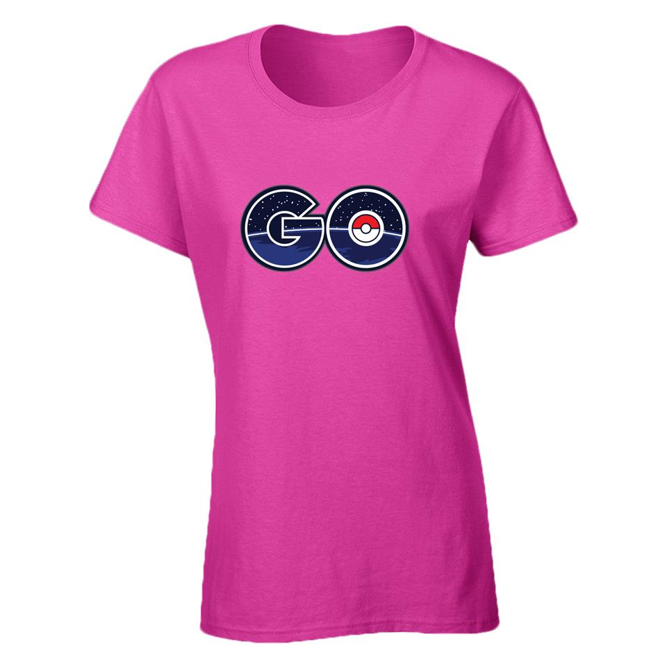 OS550F Pokemon Go A Female T-shirt