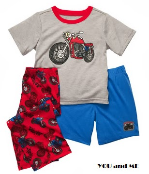 OSHKOSH 3-Piece Jersey PJs - Motocycle