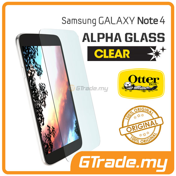 OTTERBOX Alpha Glass Screen Protector | Samsung Galaxy Note 4 - Clear