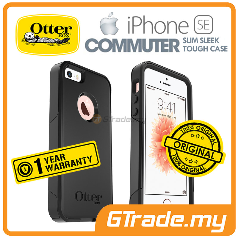OTTERBOX Commuter Case Slim Mighty | Apple iPhone SE 5S 5 - Black