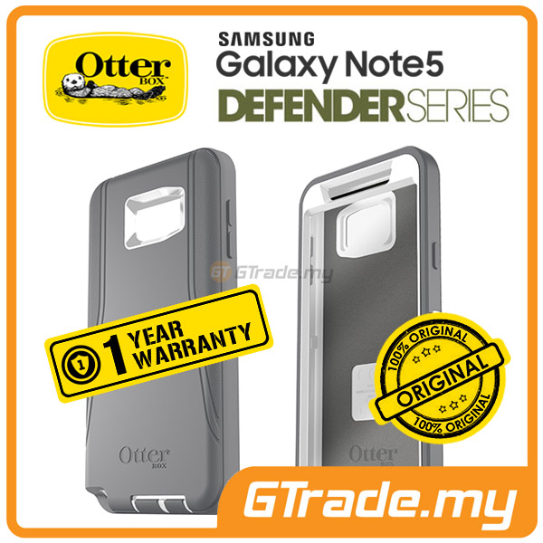 OTTERBOX Defender Belt Clip Holster Case Samsung Galaxy Note 5 Glacier