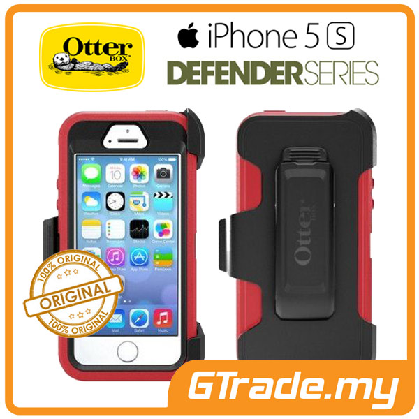OTTERBOX Defender Case + Klip Holster | Apple iPhone 5S SE - Raspberry