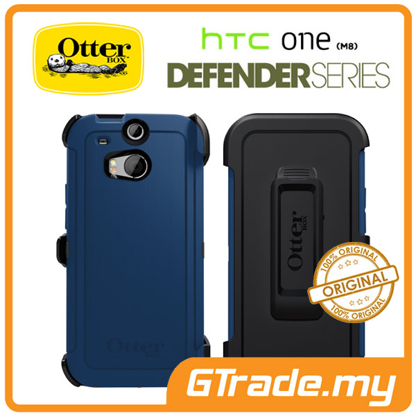 OTTERBOX Defender Case + Klip Holster | HTC One M8 - Blue Print