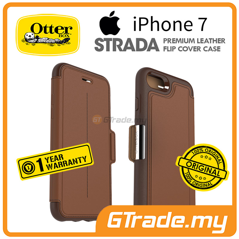 OTTERBOX Strada Premium Leather Case | Apple iPhone 7 - Burnt Saddle