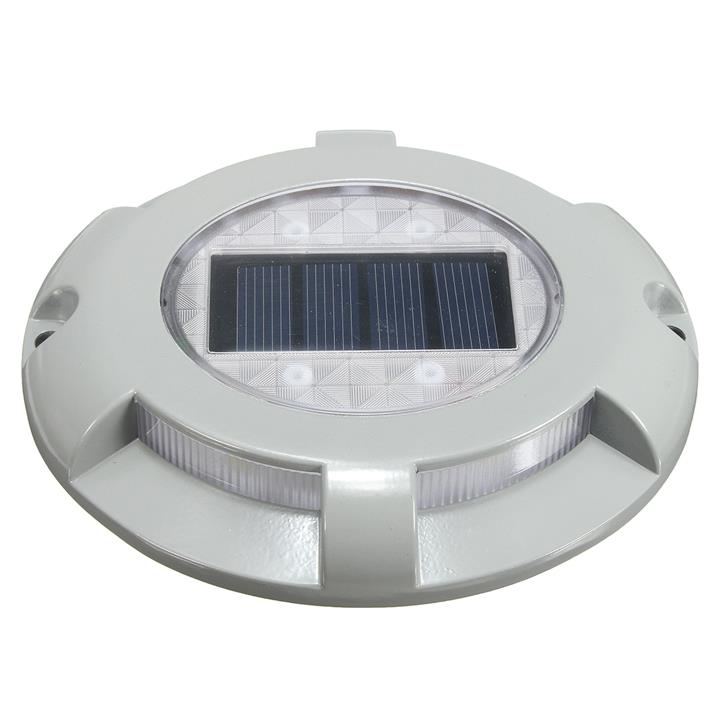 outdoor 4 led solar powered light road path driveway dock ground lamp. Black Bedroom Furniture Sets. Home Design Ideas