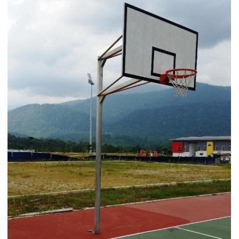 Outdoor Basketball Single Post Aluminium, Ground Socket System