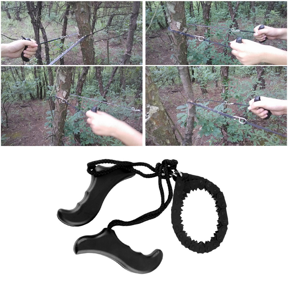 Outdoor Emergency Survival chain Saw Sawing Pocket Plastic handle Tool..