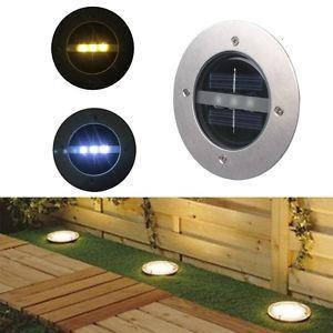 Outdoor Solar 3 LED Underground Buried Light Lamp