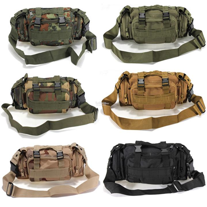 Outdoor Sports Camouflage Backpack Rucksack Camping Hiking Waist Bag P