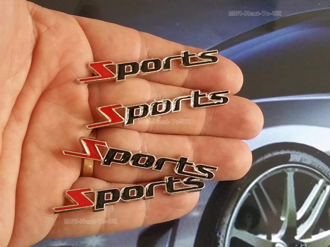[OVH-HKU] 4 Pieces Sports 6Cm Chrome Hq Metal Trunk Badge Emblem Log