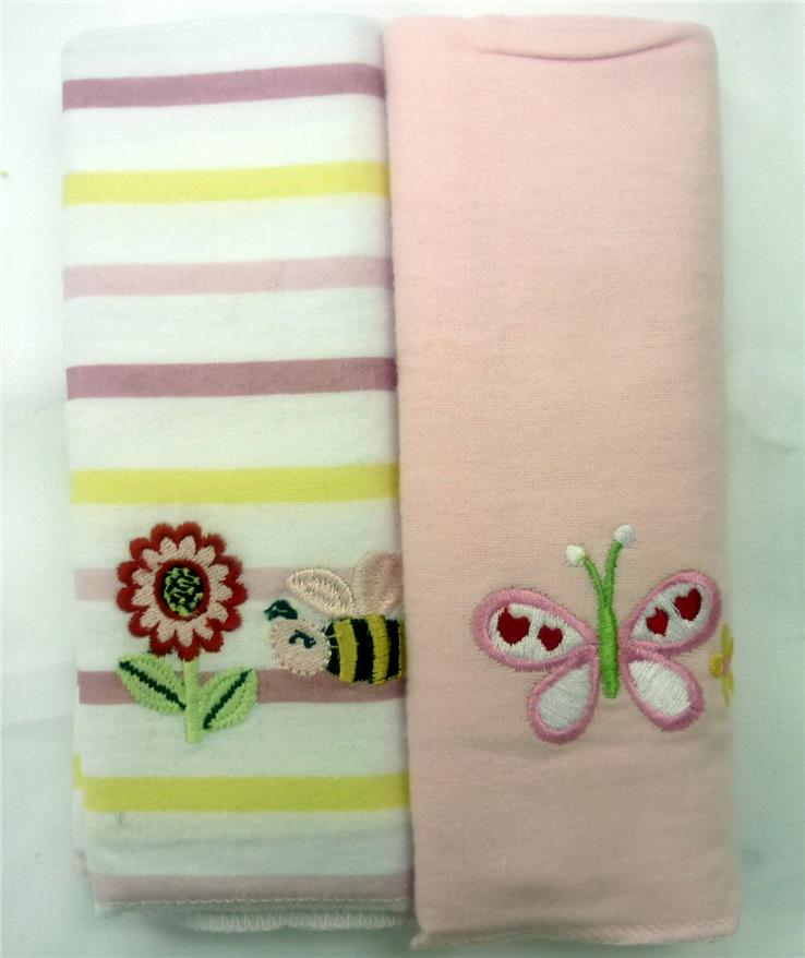 OWEN 2pc Receiving Blankets – Pink