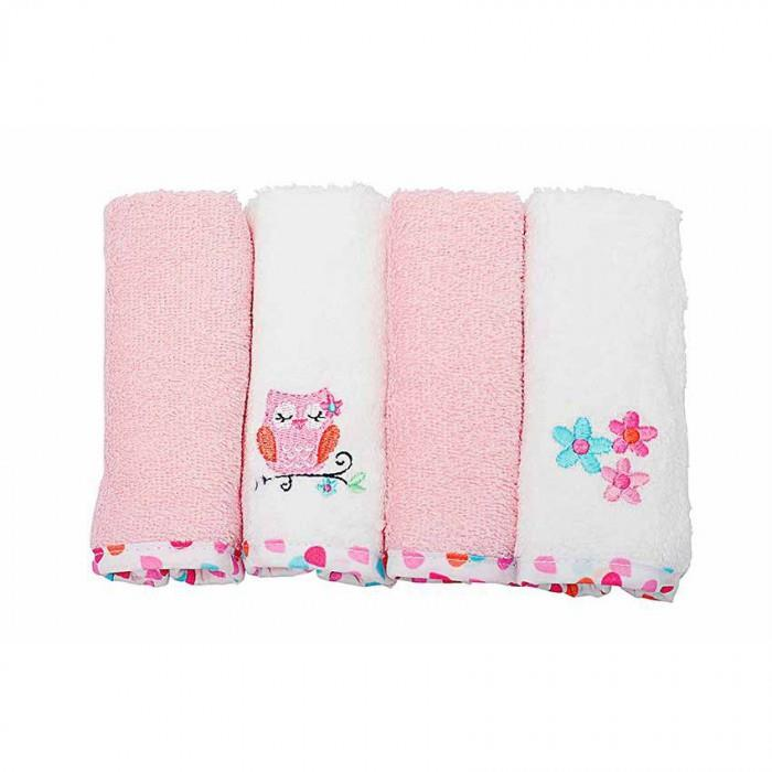 OWEN 4pc Terry Washcloth - Pink