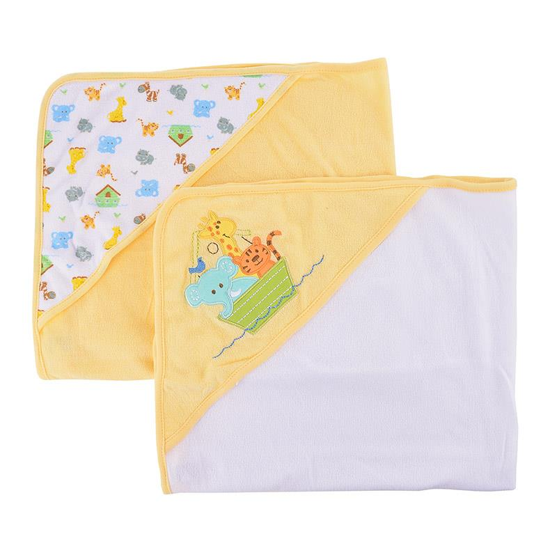 OWEN Baby 2pc Knit Hooded Towel - Yellow