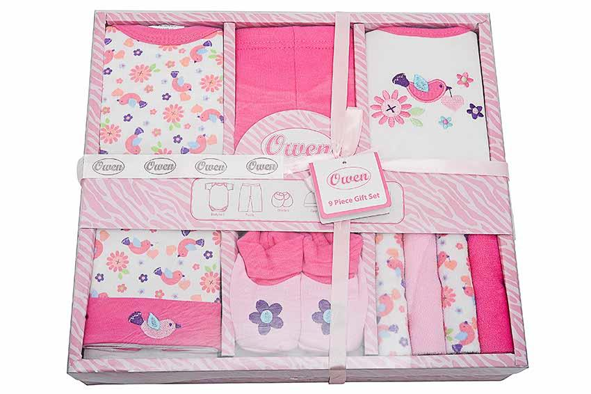 OWEN Baby 9pc Gift Set - Girl (Pink)