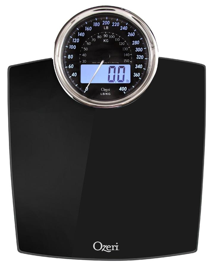 Ozeri ZB19 Digital Bathroom Scale with Electro-Mechanical Weight Dial