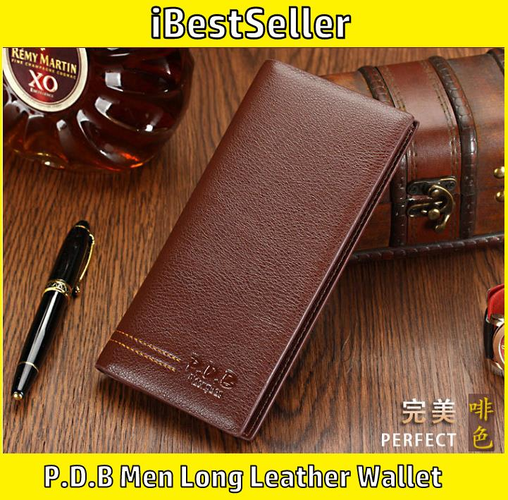 P.D.B Men Premium Genuine Leather Wallet High Quality Long Wallet