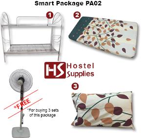 "Package B-Bunk Bed 1pc, 3'x4"" Mattress Petak (A) 2pc & Pillow 2pc"