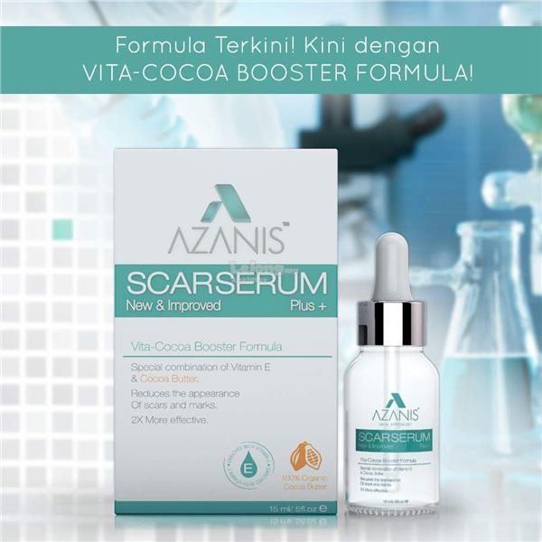(New Packaging) Azanis Scar Serum V3.0+Vita Cocoa Booster Formula (15m