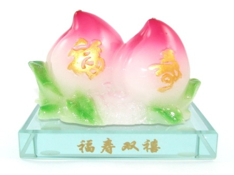 Pair of Longevity Peaches for Immortality - Birthday Gift for Parents