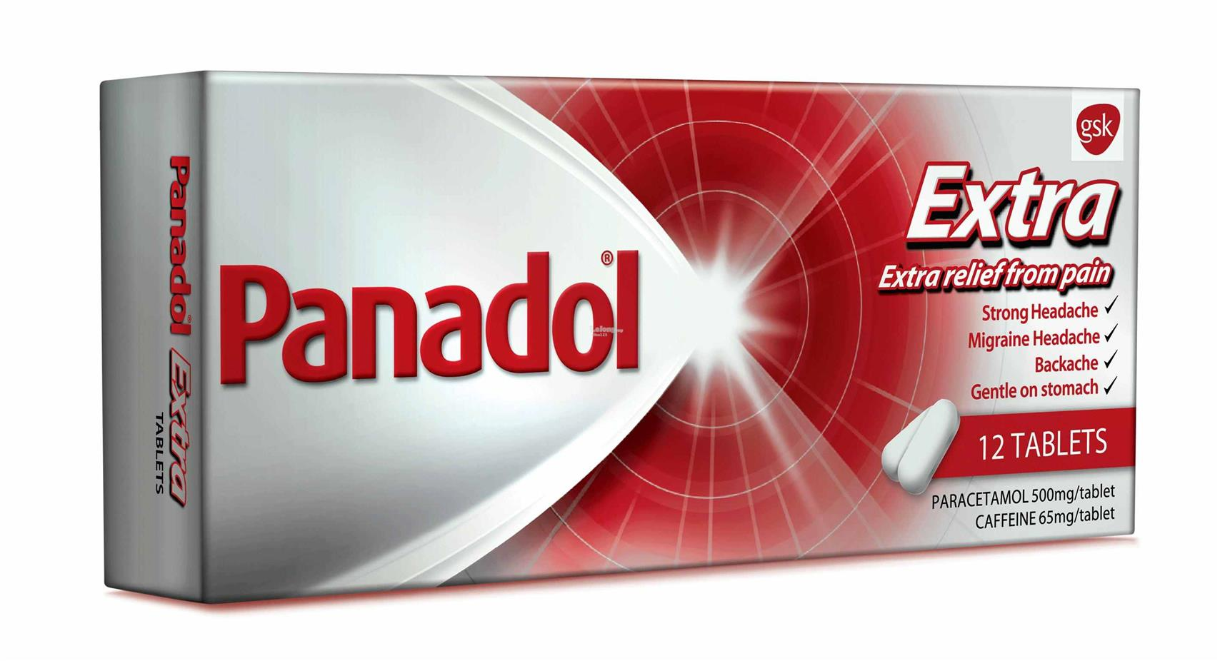 PANADOL EXTRA (RELIEF OF STRONG HEADACHE/MIGRAINE)12 TABLETS