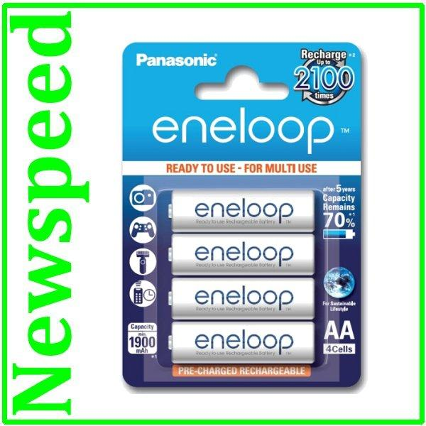Panasonic Eneloop 4xAA 2000mah rechargeable battery 2100 cycle