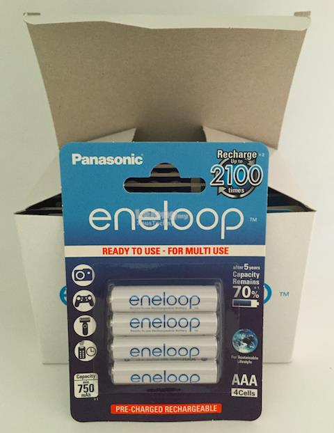Panasonic Eneloop AAA Rechargeable Battery 750 mAh - 4 Pieces