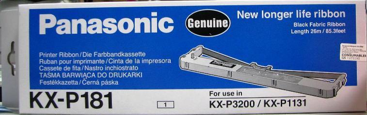 PANASONIC (GENUINE) KX-P181 RIBBON 26m