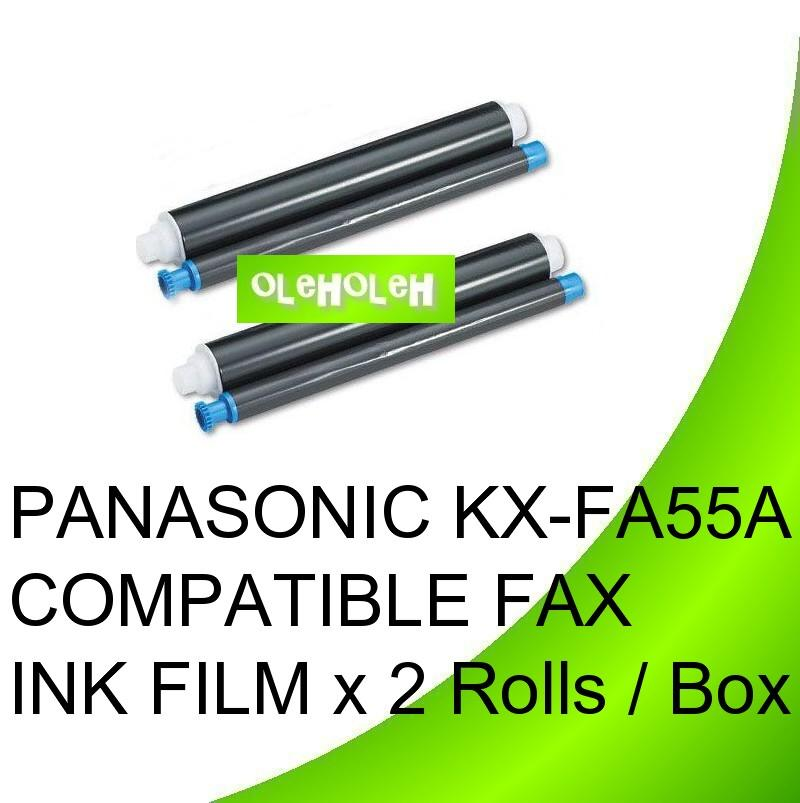 PANASONIC KX-FA55A COMPATIBLE FAX INK FILM x 2 Rolls / Box